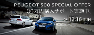 PEUGEOT 308 SPECIAL OFFER 12.16 まで