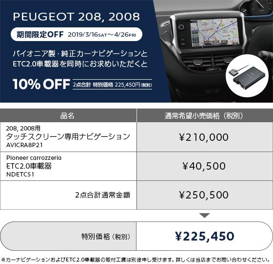 純正カーナビゲーションとETC車載器の同時購入で10% OFF