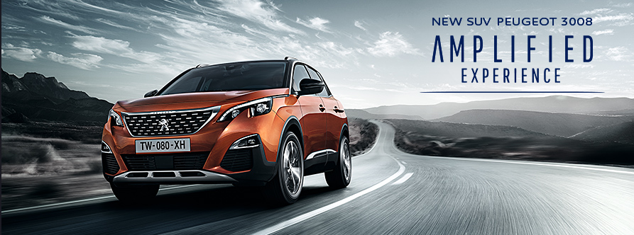 NEW SUV PEUGEOT 3008 AMPLIFIED EXPERIENCE TOUR
